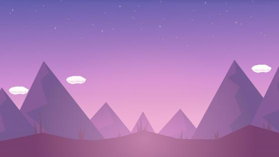 Purple night minimal landscape wallpaper
