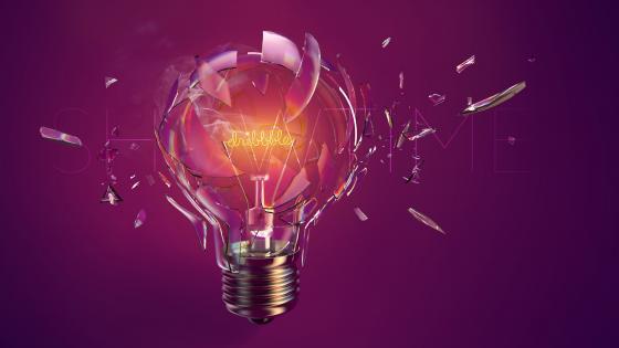 Purple bulb wallpaper