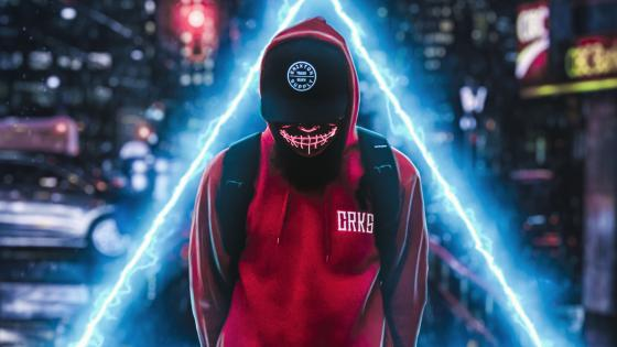 Man with red hoodie wallpaper