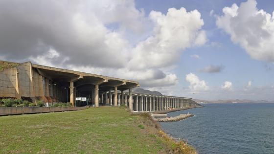 The Madeira Airport Runway in Santa Cruz, Portugal wallpaper