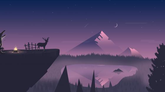To become night wallpaper