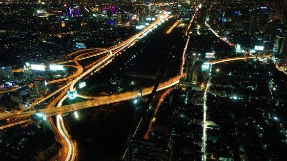 Makkasan Interchange & East Bangkok from Baiyoke Tower II wallpaper