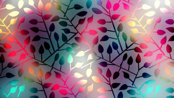 Abstract Pink Leaves wallpaper