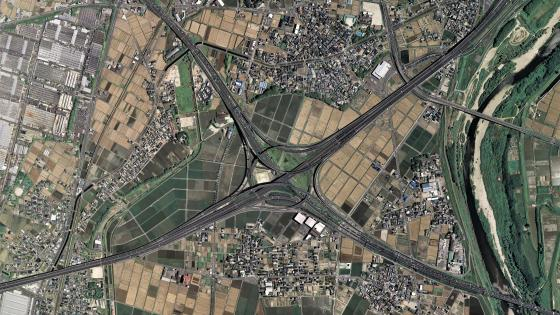 Road Junction in Toyota, Japan wallpaper