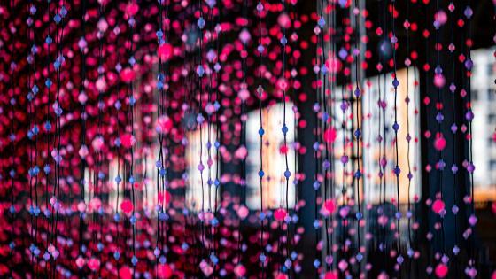 Glowing garlands wallpaper