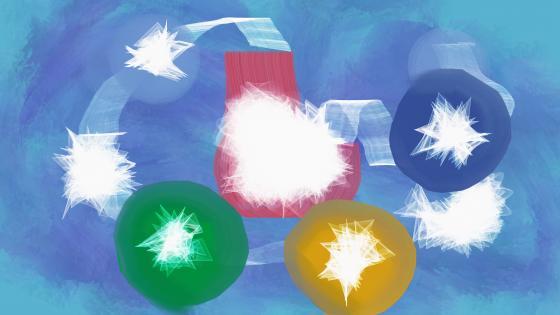 Sparkling balls wallpaper
