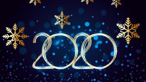 2020 New Year snowflakes wallpaper