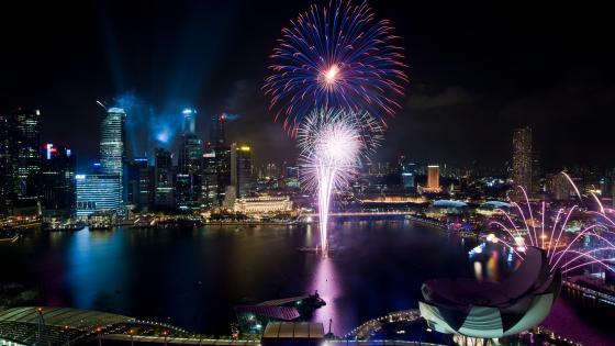 Singapore National Day Parade Fireworks wallpaper