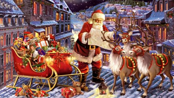 Santa Claus And The Christmas Journey wallpaper