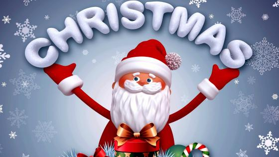 Christmas With Santa Claus wallpaper