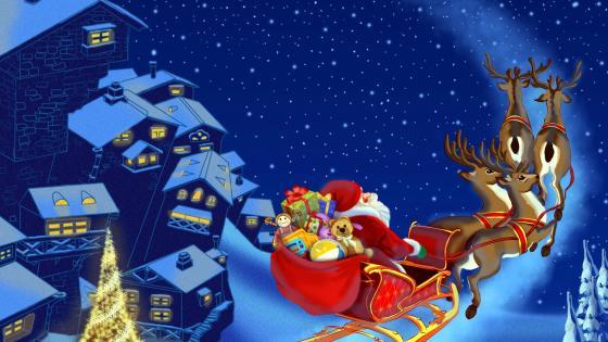Santa Claus Creative Arts wallpaper