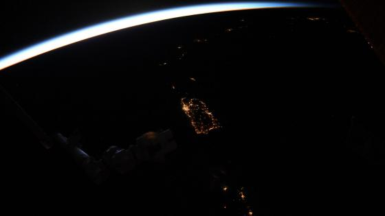 Puerto Rico at Night Viewed from ISS wallpaper