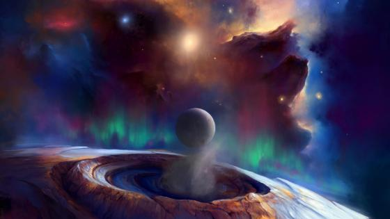 Fantasy space art wallpaper