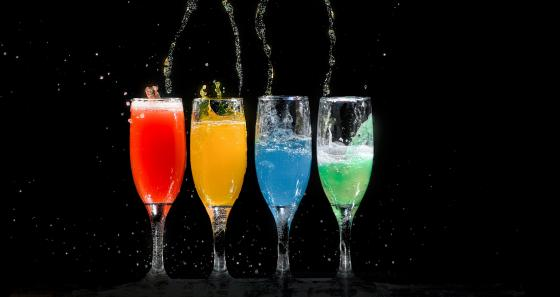 Four Champagne Flutes wallpaper