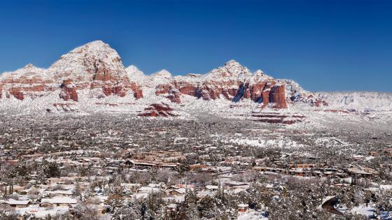 Snow Covered Sedona, Arizona wallpaper