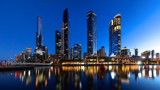 The Southbank Skyline in Melbourne wallpaper