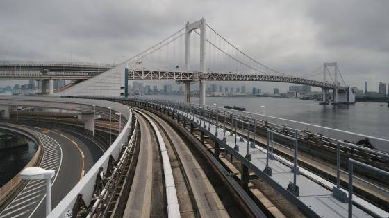 The Rainbow Bridge as seen from the Yurikamome LRT wallpaper