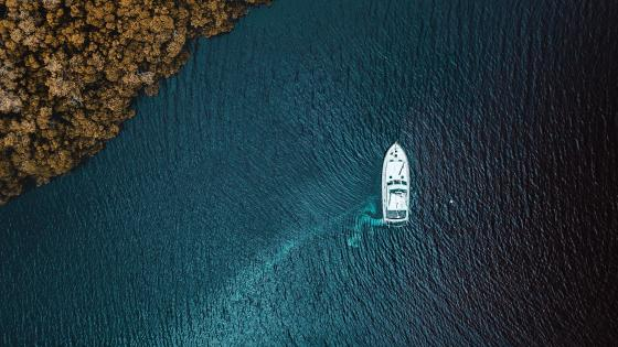 boat & sea wallpaper
