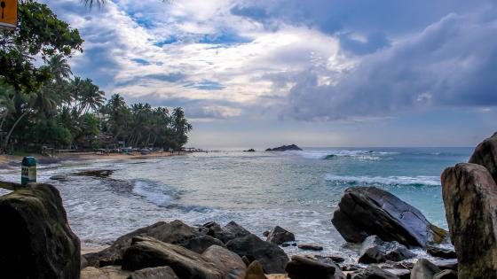 Scene from Unawatuna, Sri Lanka wallpaper