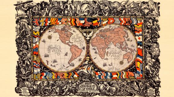 This World Of Ours World Map wallpaper
