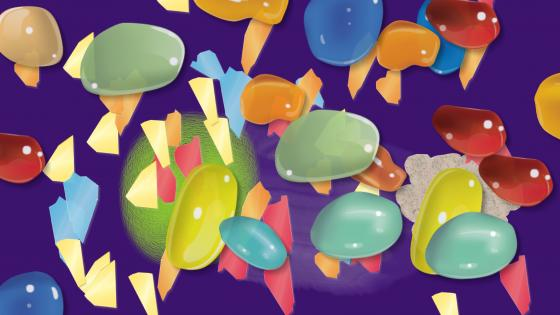 Glass bubbles wallpaper