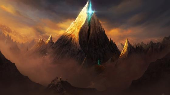 Magical fantasy mountains wallpaper