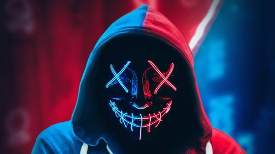 Neon Mask Hoodie wallpaper