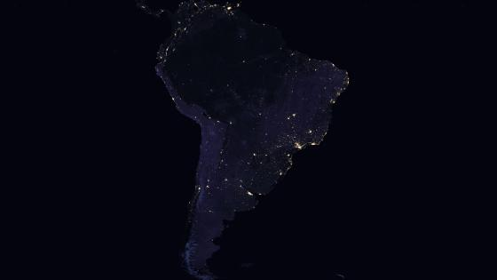 Night Lights of South America 2016 wallpaper