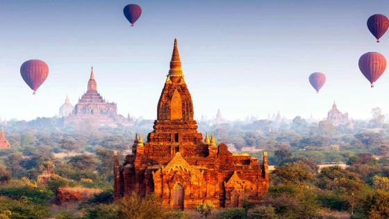 Buddhist Temples Bagan Myanmar wallpaper