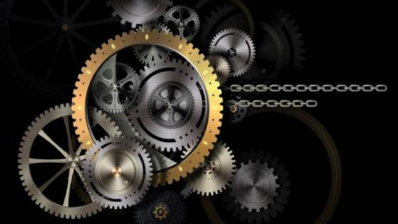 Gold Industrial gear wallpaper