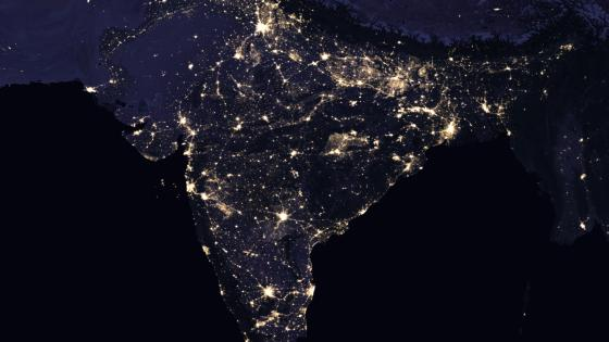 Night Lights of India, Pakistan, Nepal, Bhutan & Myanmar 2016 wallpaper