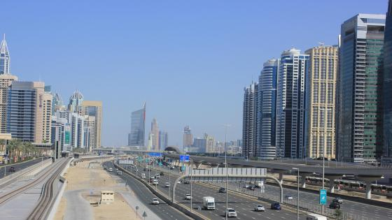 Sheikh Zayed Road in Dubai wallpaper