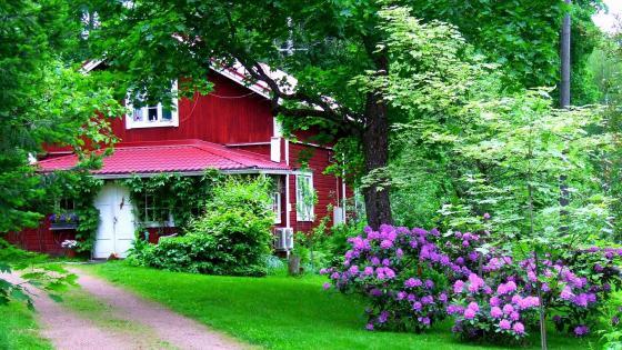 House garden wallpaper