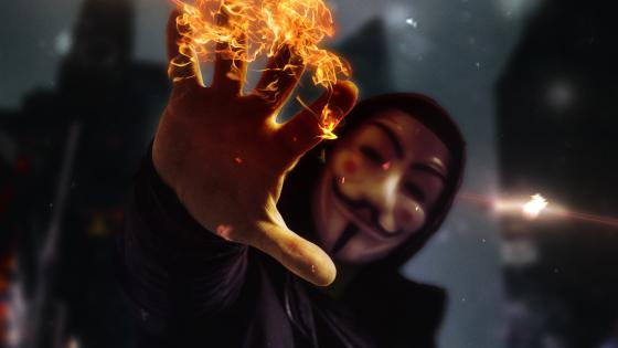 Anonymus mask guy wallpaper
