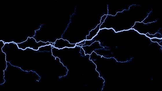 Dark blue lightning wallpaper