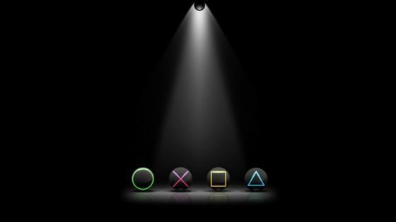 Premium game key under light in deep dark wallpaper