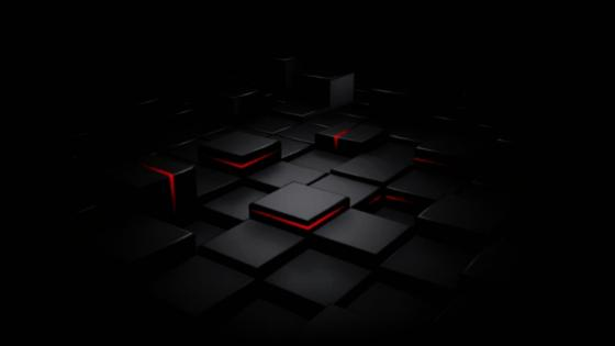 Abstract cubes with redlight spots wallpaper