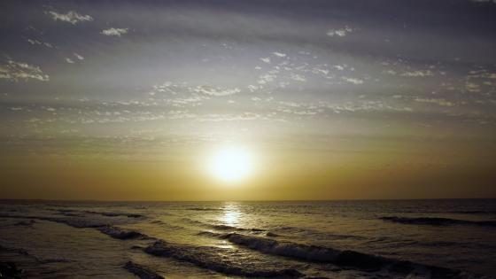 Sonnenuntergang in Gambia wallpaper