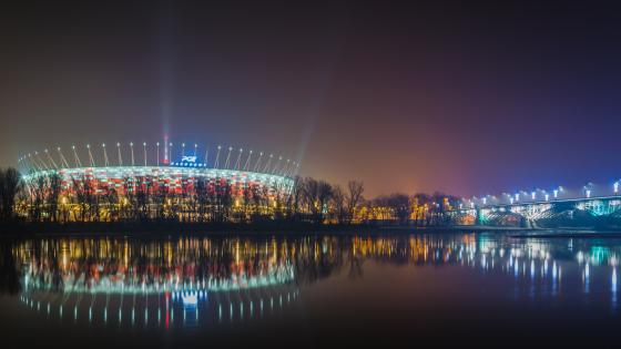 Polish National Stadium in Warsaw wallpaper