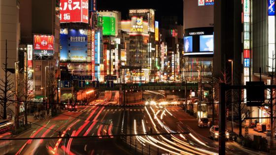 Ome-kaido Overbridge in Shinjuku City, Tokyo wallpaper