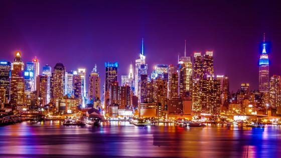 New York by night wallpaper