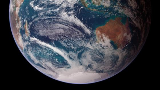 Twin Blue Marbles: Eastern Hemisphere (Australia, Africa & Antarctica) wallpaper