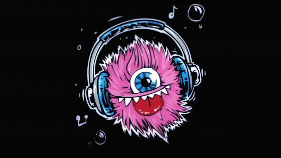 Magenta Monster Music wallpaper