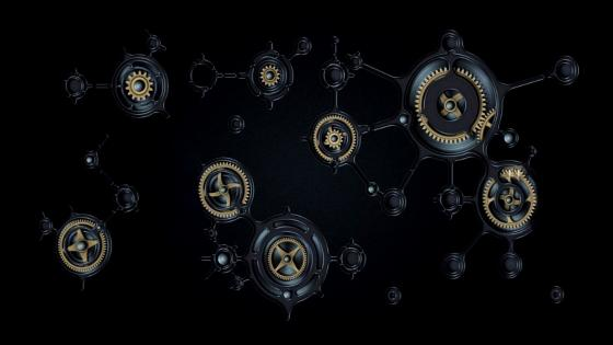 Gears dark gray wallpaper