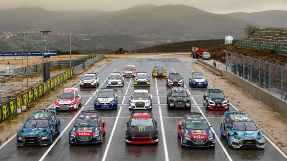 Start of Round 1 of the 2016 FIA World Rallycross Championship in Montalegre, Portugal  wallpaper