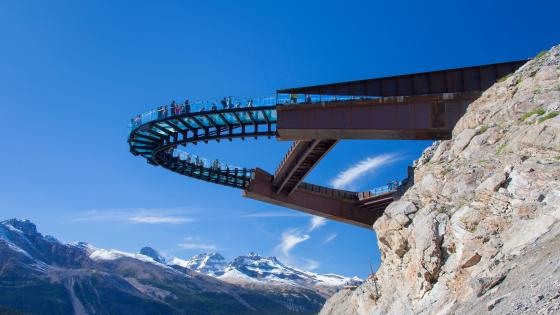 Glacier skywalk wallpaper