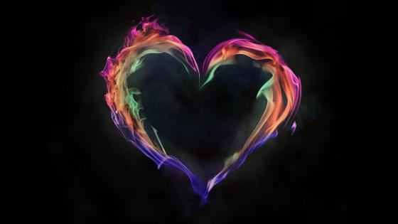 Flame heart wallpaper