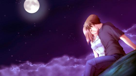 A Tender Kiss Under The Moon wallpaper