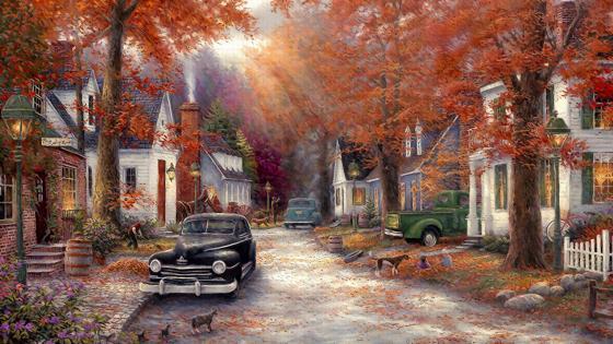 Vintage Autumn wallpaper