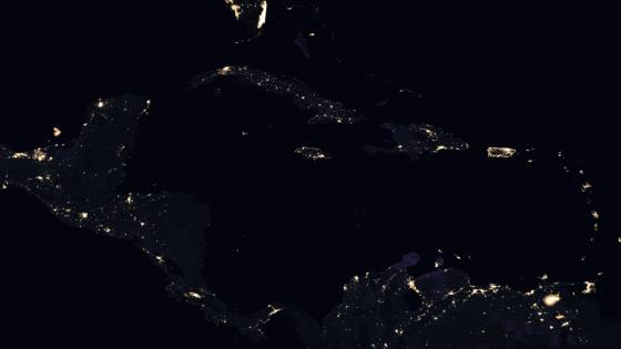 Night Lights of Central America & the Caribbean 2016 wallpaper